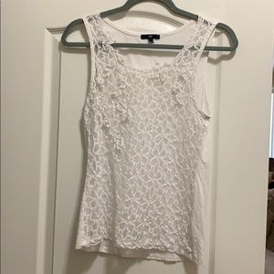 GAP Lace Front Sleeveless Top